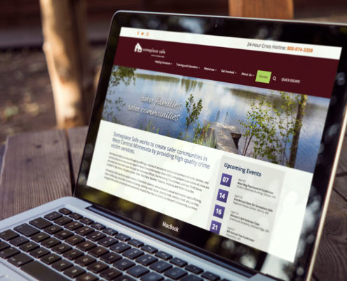 Nufire Marketing website design for Someplace Safe in Fergus Falls, MN