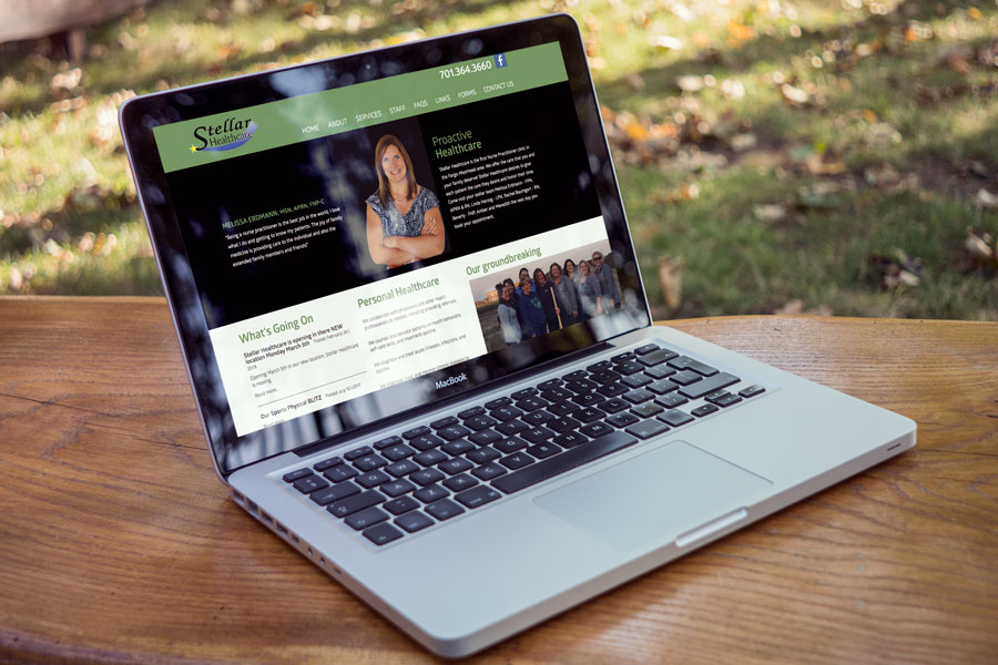 Nufire Marketing website design Stellar Healthcare in Fargo
