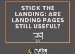 Stick the landing; are landing pages still useful?
